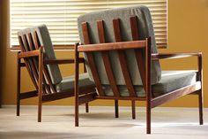 2 Selig IB Kofod Larsen Lounge Chair Danish Modern Mid Century Eames Hans Wegner   eBay