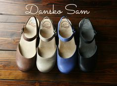 Dansko Sam. A closed-toe sandlish clog--great transition shoe for fall and so good for the feet. Room for bunions, excellent arch support and rocker sole.