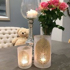 Love these cute home accessories Home Accessories, Fountain, Candle Holders, Sweet Home, Vase, Candles, Home Decor, House Beautiful, Water Fountains