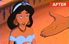 If Disney Princesses Had Normal-Size Eyes (via BuzzFeed)