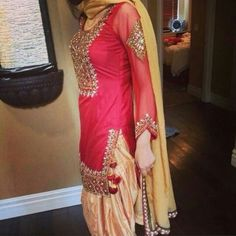 Red Punjabi Suit