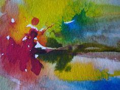 Peinture Abstrait Aquarelle