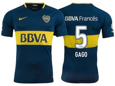 Boca Juniors Jersey fernando gago Home 17-18 Shirt Camisetas De Fútbol fd56e5aa48085