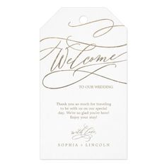 Romantic Gold Calligraphy Flourish Wedding Welcome Gift Tags We share the best of boho wedding inspiration styled shoots engagements styling ideas real weddings decor save the date cards invitations favors and more. Gold Calligraphy, Wedding Calligraphy, Wedding Welcome Gifts, Wedding Thank You, Destination Wedding Bags, Wedding Planning, Fancy Hands, Party Favor Tags, Party Favors