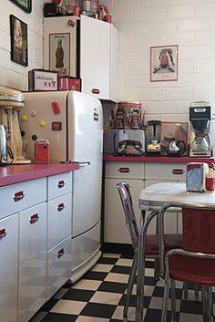 50s Kitchen 50s kitchen curtains | curtain design | retro kitchens | pinterest