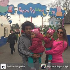 Chelsea Football Club and the Brazil National Team's Willian Borges da Silva paid a visit for some family time > https://paultonspark.co.uk/blog/2015/04/1198/easter-on-instagram-photographs-from-paultons-park-and-peppa-pig-world