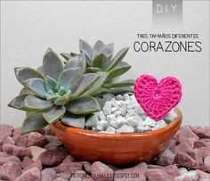 Patrón Gratis: Corazones a Crochet | PATRONES VALHALLA // Patrones gratis de ganchillo