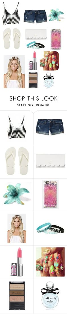 """""""Untitled #76"""" by annashishlo ❤ liked on Polyvore featuring Aéropostale, Havaianas, Kate Spade, Casetify, With Love From CA and Wet n Wild"""