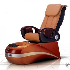 Coming in various colours, the pedicure spa chair will prove to be one of the best investments that you make for your salon. The chair's base is made from fibreglass and is accompanied by a foot basin that enhances your customer's comfort. Spa Pedicure Chairs, Pedicure Spa, Spa Chair, Massage Chair, Nail Salon Furniture, Spa Lighting, Spray Hose, Portable Spa, Drain Pump