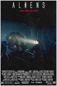 Movie Poster GIF - Aliens (1986) 3/14 by Loupii