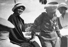 """The Grand Duchesses Olga and Tatiana Nikolaevna Romanova of Russia and Tsarevich Alexei Nikolaevich Romanov of Russia in 1916.  """"AL"""""""