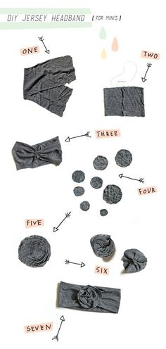 baby headband DIY - want to make these and others- @Jenny Zerello