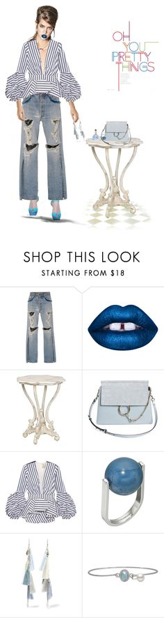 Sans titre #117 by cocochanellevesque on Polyvore featuring mode, Johanna Ortiz, Jonathan Simkhai, Chloé, Chan Luu, French Connection and Lime Crime