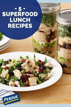 Boost energy at lunchtime with these PERDUE® Chicken superfood recipes. Lunch Recipes, Soup Recipes, Superfood Recipes, Group Meals, Everyday Food, Lunch Time, Healthy Alternatives, Quinoa, Salad