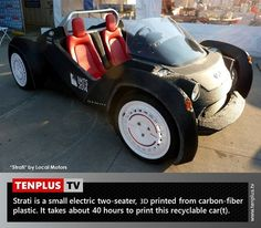 Fact of the day: first 3D printed car