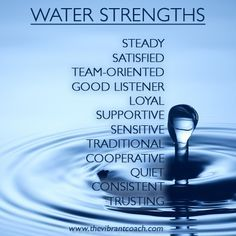 Water's Strengths