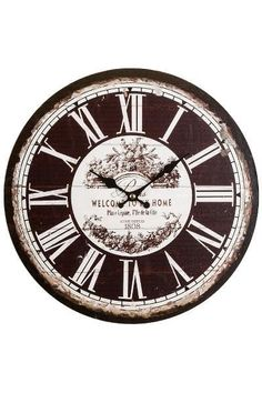 Ceas de Perete Welcome Lemn 34x34 cm Clock, Home Decor, Watch, Decoration Home, Room Decor, Clocks, Home Interior Design, Home Decoration, Interior Design
