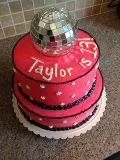 Butter Cream Disco Ball Cake!