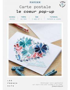 Les French Kits Cartes Postales Le Cœur Pop Up En 2020 Carte Postale Kit Creatif
