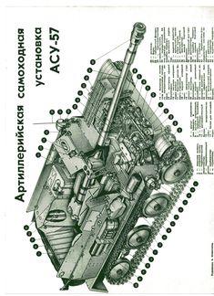 компоновка    аэромобильной  АСУ-57