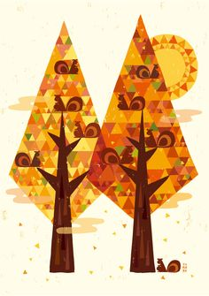 """Árbol """"a finales de otoño"""""""