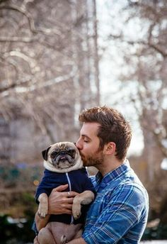 Valentine's Day is for lovers: human and pug