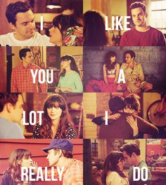Nick Miller and Jess Day <3   one day, you'll be cool