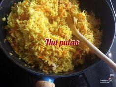 Arroz pulao, una receta india que te enseña a respetar la cocina de verdad. Pocos ingredientes y modestos resultan en un plato memorable, ¡Querrás repetir! Sushi, Relleno, Grains, Veggies, Rice, Food, Indian Recipes, Asian Recipes, Plate