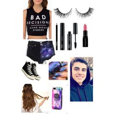 Every day wear+ Jack G by hey-its-tati on Polyvore featuring polyvore, fashion, style, Converse, Samsung, FACE Stockholm and Smashbox