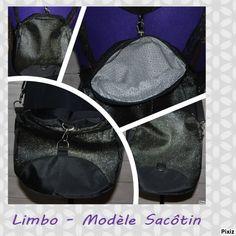 Sac transformable Limbo cousu par EdenSo en simili brillant et nylon bag. Patron couture http://sacotin.com/boutique/patron-sac-limbo/