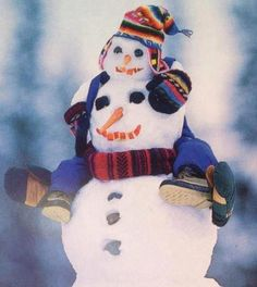 goin' for a ride - snowman & snowkid