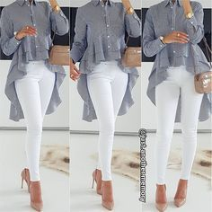 A simple yet classy look! You can style everything with some white skinny jeans, nude high heels and bag Yek set shik vali asun. High Heels Outfit, Nude High Heels, Heels Outfits, Jean Outfits, Nude Pumps, Winter Fashion Outfits, Trendy Fashion, Hijab Fashion, Runway Fashion