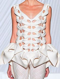 patternprints journal: BEAUTIFUL PATTERNS WITH SCULPTURAL EFFECTS IN KNITWEAR BY LIU FANG S/S 2013 COLLECTION