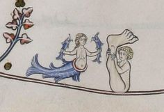 The Siren and the Sciopod @FitzMuseum_UK, The Pontifical of Renaud de Bar, 14th c.