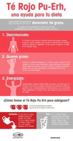 Infografía: Té Rojo Pu-Erh, una ayuda para tu #dieta. #salud y #belleza