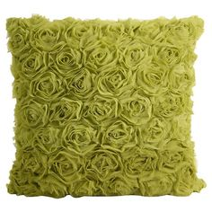Textured throw pillow in green.Product: PillowConstruction Material: 100% Polyester with a linen and viscose back...