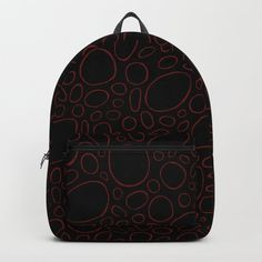 Organic - Red Backpack by laec | Society6
