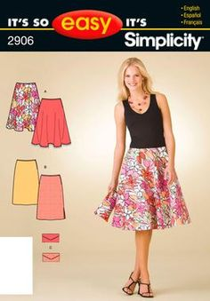It's So Easy Sewing Patterns : : Simplicity Patterns : Misses Skirts and Purse