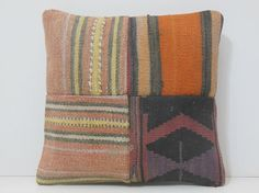 kilim pillow seat cushion 16x16 DECOLIC by DECOLICKILIMPILLOWS