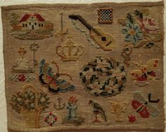 A 19th Century WoolWork Sampler eBay.com