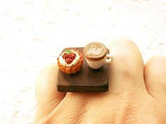 Cool ring. I would get hungry every time I looked at my hand.