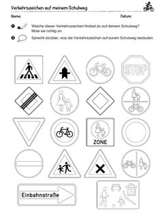 Rules and Road Signs - vs-verkehrs website! - My CMS Educational Websites, Educational Activities, Printable Quotes, Diy For Kids, Kids Learning, Parenting, Teaching, School, Montessori