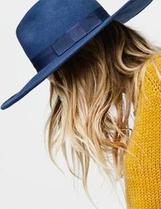 Navy Wide Brim Hat