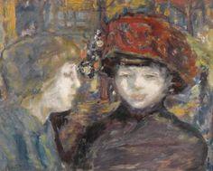 Pierre Bonnard, DANS LA RUE, DEUX FIGURES