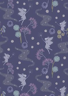 """Fairies Floral Midnight Blue"" Craft Cotton I love this fabric :)"