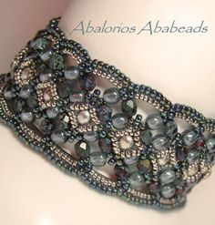 Maroon Bracelet beaded by Christina Hernandez
