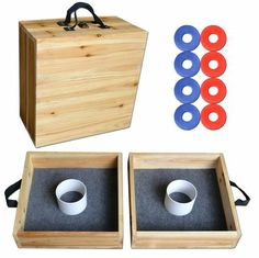 Add a little washers to your wedding weekend festivities with this easily transportable set
