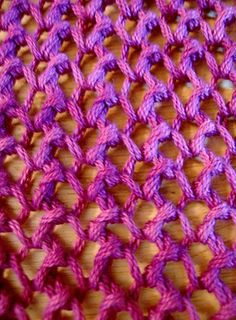 cast on an uneven count  knit 1  yo  knit 2 together  yo  k2tog  that's it  over and over  yo   k2tog