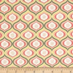 Penelope Isle of Milos Pink from @fabricdotcom  From Camelot Fabrics, this cotton print is perfect for quilting, apparel and home decor accents.  Colors include white, grey, yellow, pink and melon.