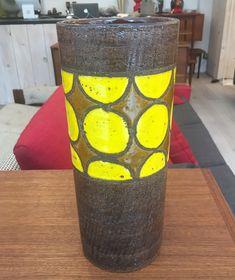"""Vase en céramique Bitossi - fabriqué en Italie  150$ 12,5""""H x 5""""D"""